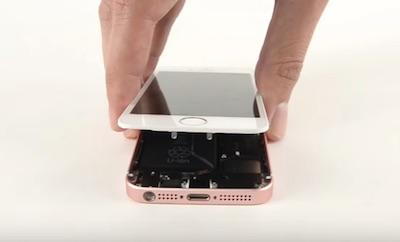Ремонт замена стекла экрана iPhone SE
