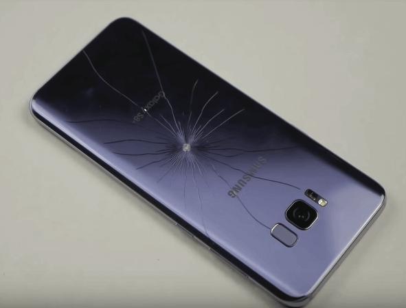 Разбитый Samsung s8 plus