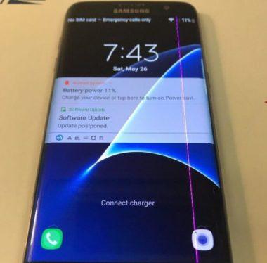 Появились полосы и пятна на дисплее Samsung Galaxy